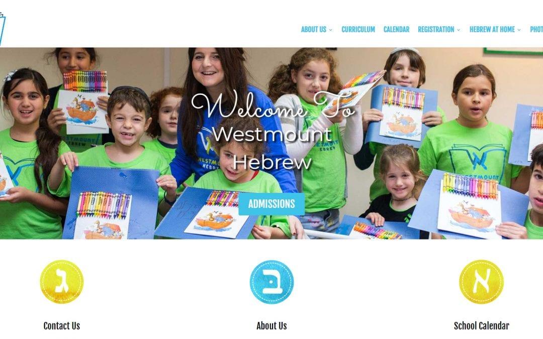 Chabad Hebrew School Website Design