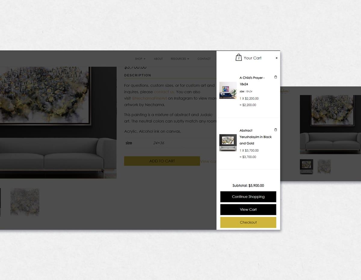 Dynamite Click Web Design Case Study - Nechama Fine Art